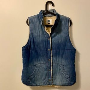 Old Navy Jean and Sherpa Vest